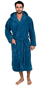 TowelSelections Mens Hooded Cotton Robe, Terry Cloth Luxury Spa Bathrobe