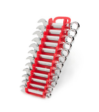 Stubby Combination Wrench Set, 12-Piece (8-19 mm) - Holder