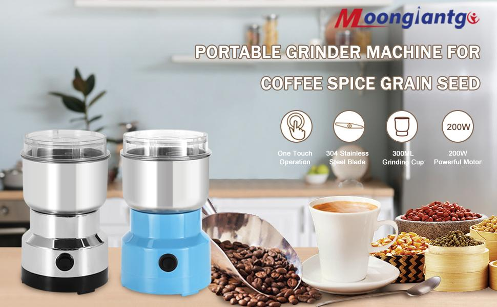 Portable Grinder Machine for Coffee Spice Grain Seed