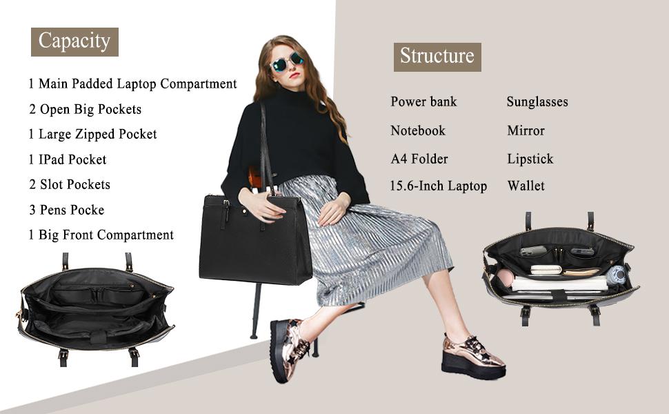 laptop bag tote for women