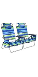 Set of 2 Folding Beach Chair