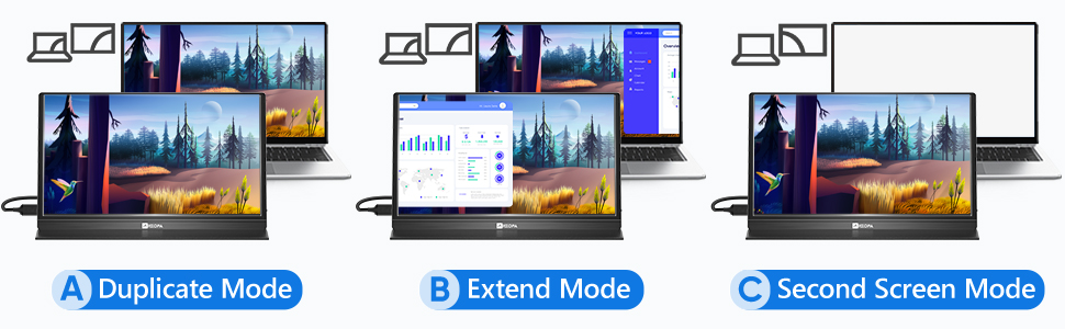 3 in 1 display mode