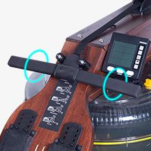 Water Rowing Machine with Bluetooth Monitor, Wooden Rower Rowing Machines Home Use Gyms Training