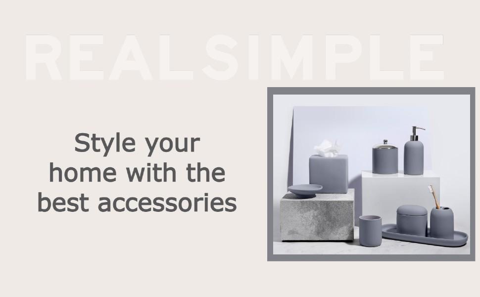 Real Simple Bathroom Accessories Set