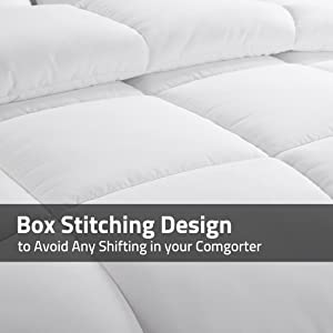 baffle box stitch to keep filling evenly distributed