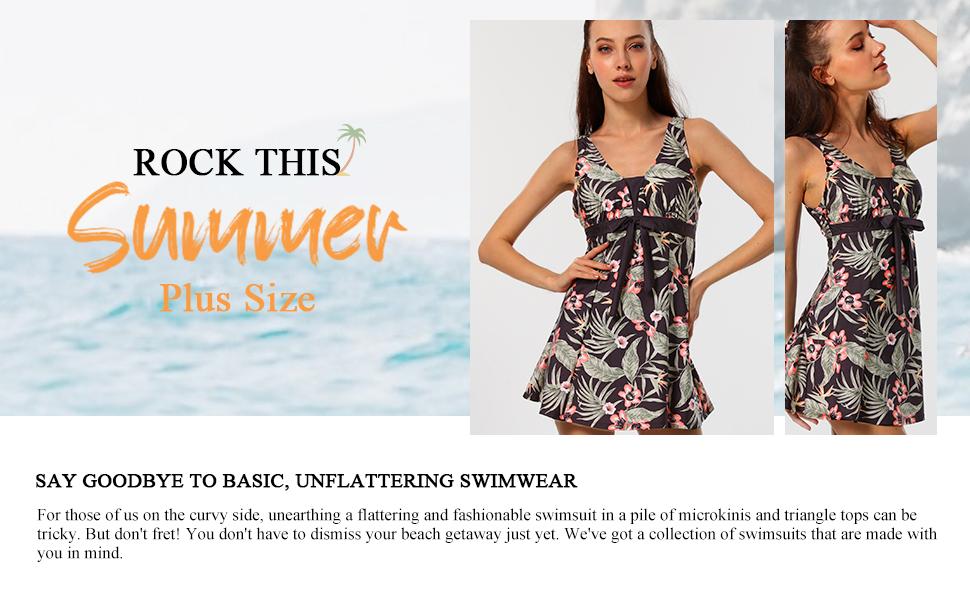 Wantdo Women's Floral Swimdress