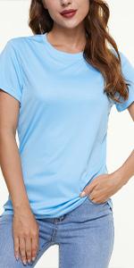 Womenamp;amp;amp;# Short Sleeve Shirts Summer Sun Protection UPF 50+ Quick Dry Outdoor Yoga Running Gym