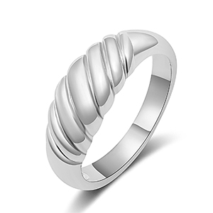silver croissant rings