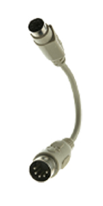 PS/2 to AT Keyboard Adapter, MiniDin6 (PS/2) Female to Din5 (AT) Male, 6 inch