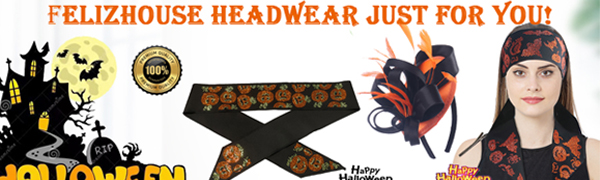 Halloween Headband  Bling Bling Rhinestone Edge Scarf For women and men