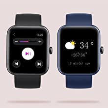 music controller and weather display