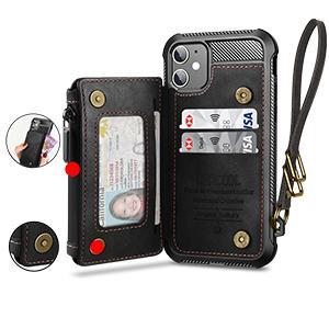 card holder, cash/bill pocket, zipper, magnetic closure