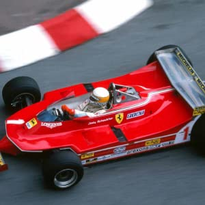 Jody Scheckter (pictured) racing on a track.