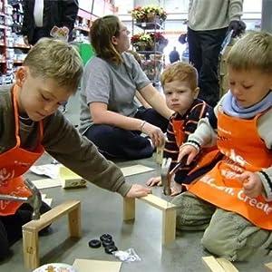 Kids make crafts