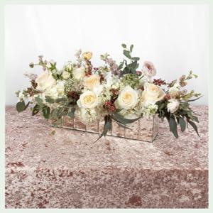 koyal mirror vase modern decor flower vases reflective Cube Mirrored Glass Vase for Wedding Table
