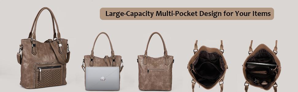 Hobo-Taschen für Damen, schwarzes Leder, Crossbody-Taschen für Frauen, mittelgroße Taschen für Frauen, Damen-Handtaschen