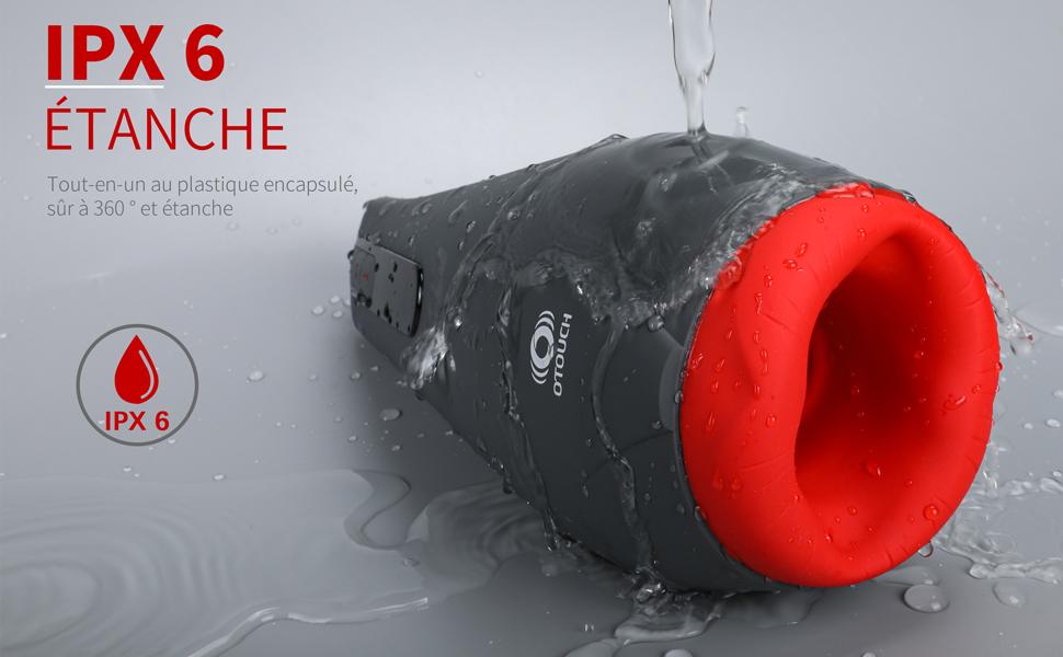 IPX6 ÉTANCHE :Tout-en-un au plastique encapsulé, sûr à 360 ° et étanche
