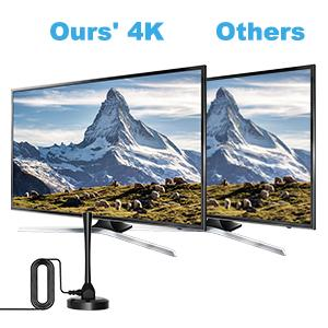Free HD 4K TV antenna, Crystal-clear more.
