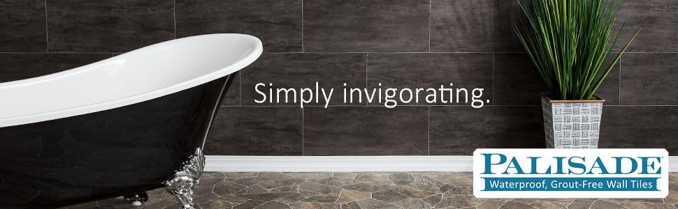 Palisade Waterproof Grout-free PVC Wall Tiles