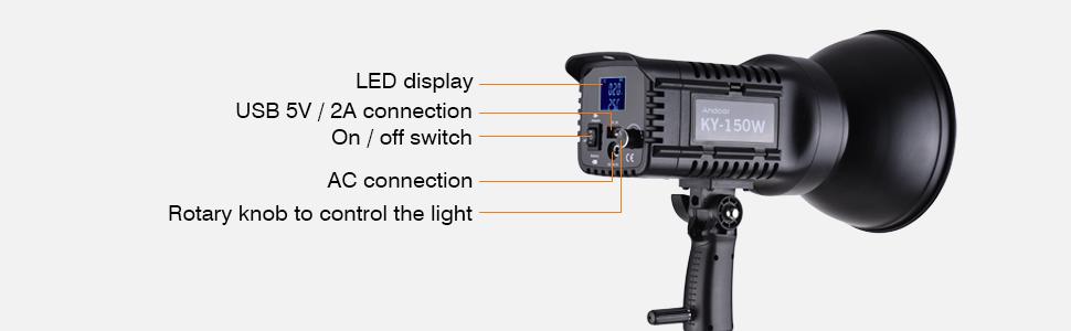 andoer KY 150W led studio light