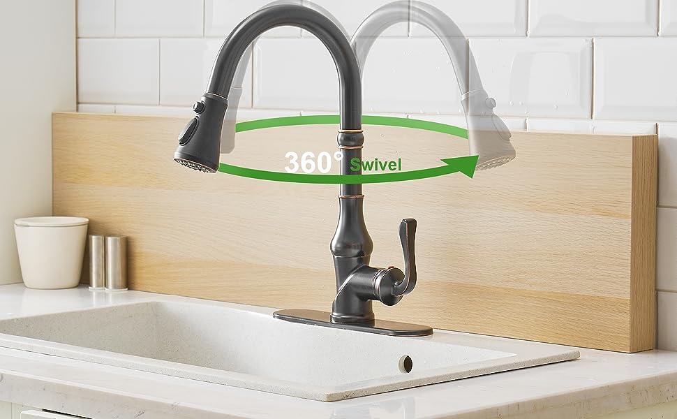 kitchen faucet bronze