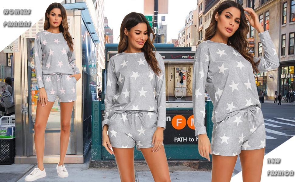 WOMENS short sleeve pajamas set