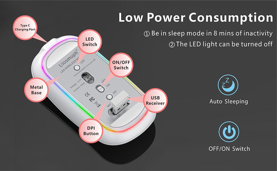 rgb wireless mouse