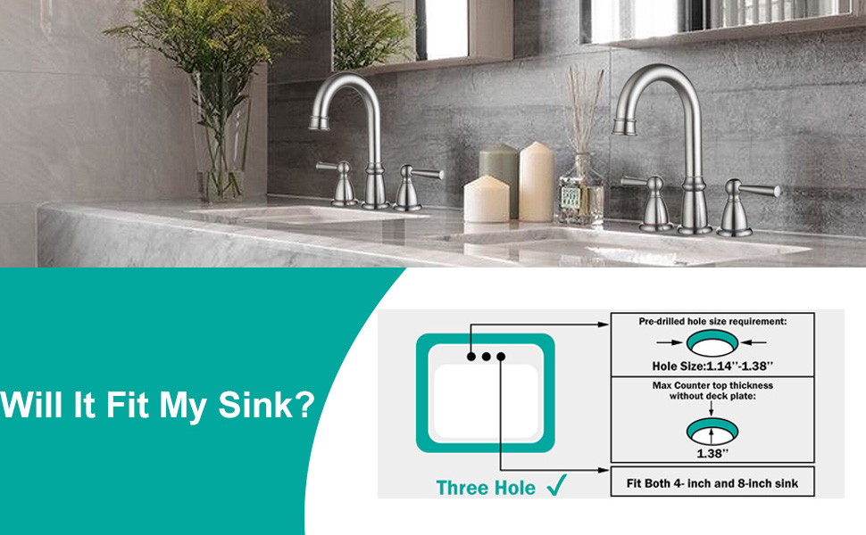 Bathroom Faucet 3 Hole