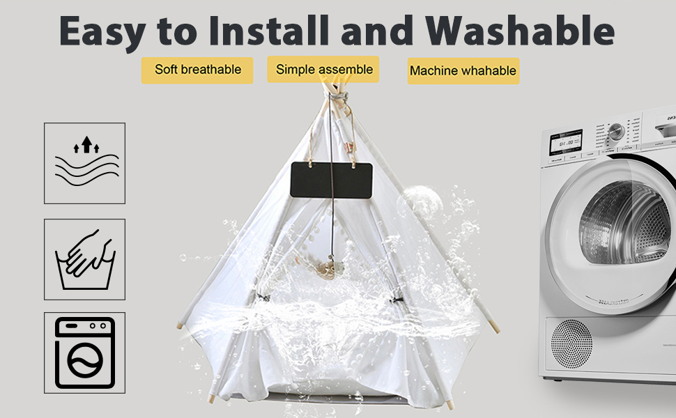 easy to install and washable