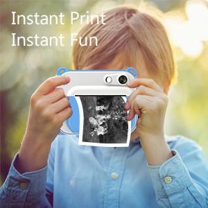 Multi-function Kids Digital Camera with Printer