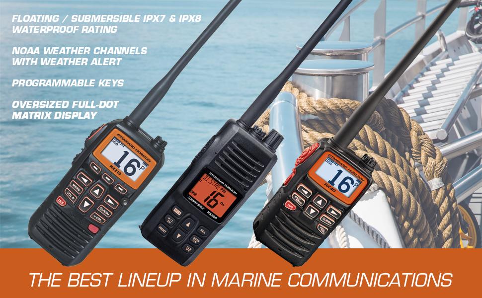 Standard Horizon Handheld VHF Radios