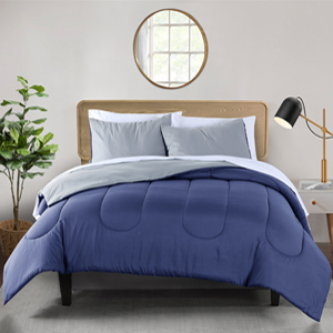Green and Blue Reversible microfiber 3-Piece comforter