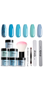 blue dip powder nail kit