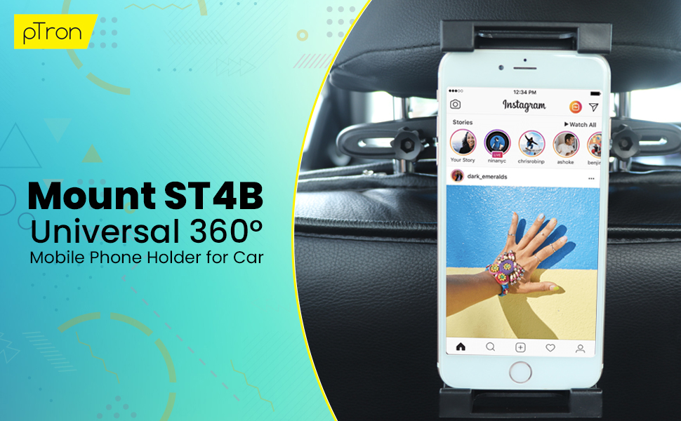 pTron Mount ST4B phone stand for car