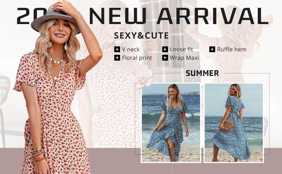 wrap maxi dress wrap summmer dress wrap beach dress wrap deep v neck dress short sleeve wrap dress