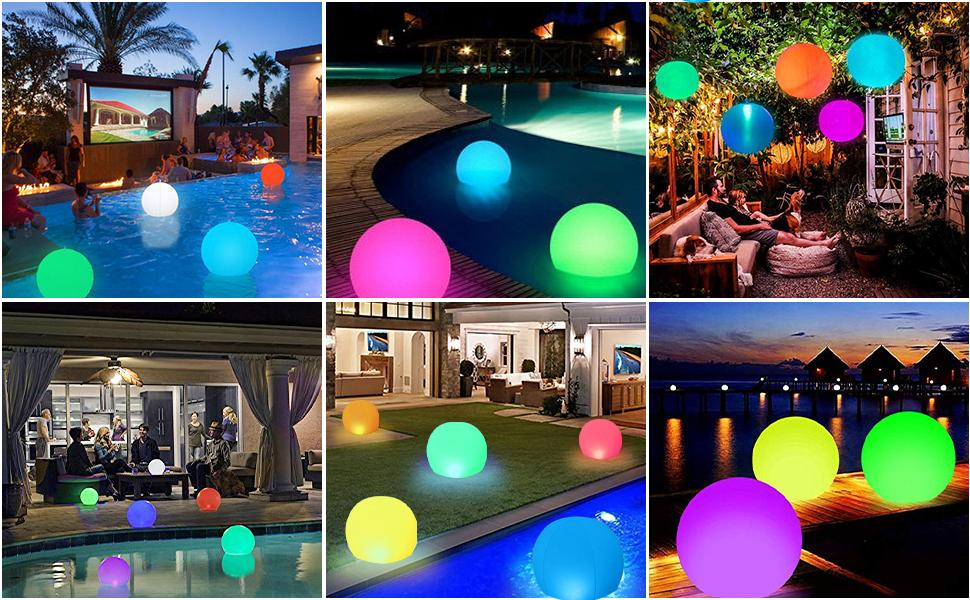 inflatable pool light