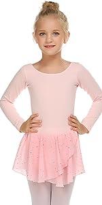 Girls Long Sleeve Sparkly Ballet  Leotard