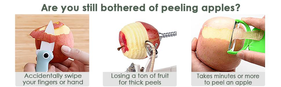 Are you still bothered of peeling apples?