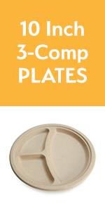 10amp;#34; 3-comp Plates