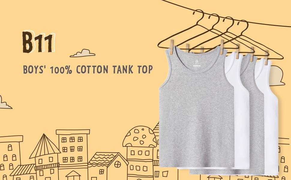 boys 100% cotton tank top