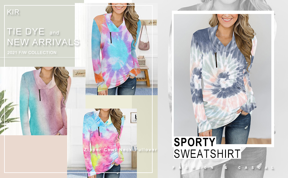 Ladies Leisure Sweater Short Zipper at Front Long Sleeves Pullover Soft Sweatshirt