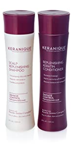 anti thinning hair growth shampoo and conditioner for damaged thinning hair with keratin and biotin