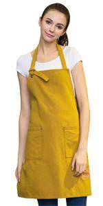 yellow apron for women
