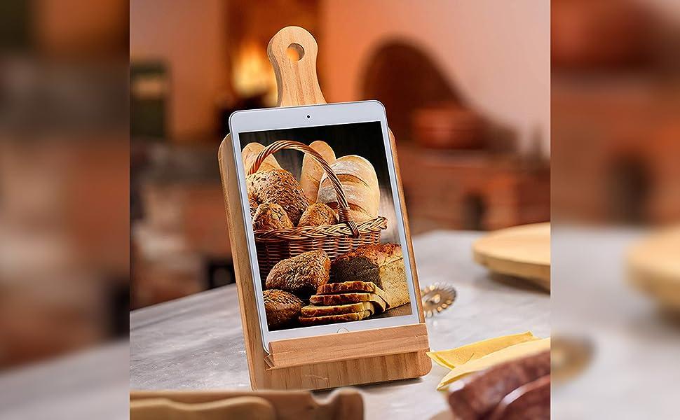 large book holder book stand for desk cookbook holder recipe book holder