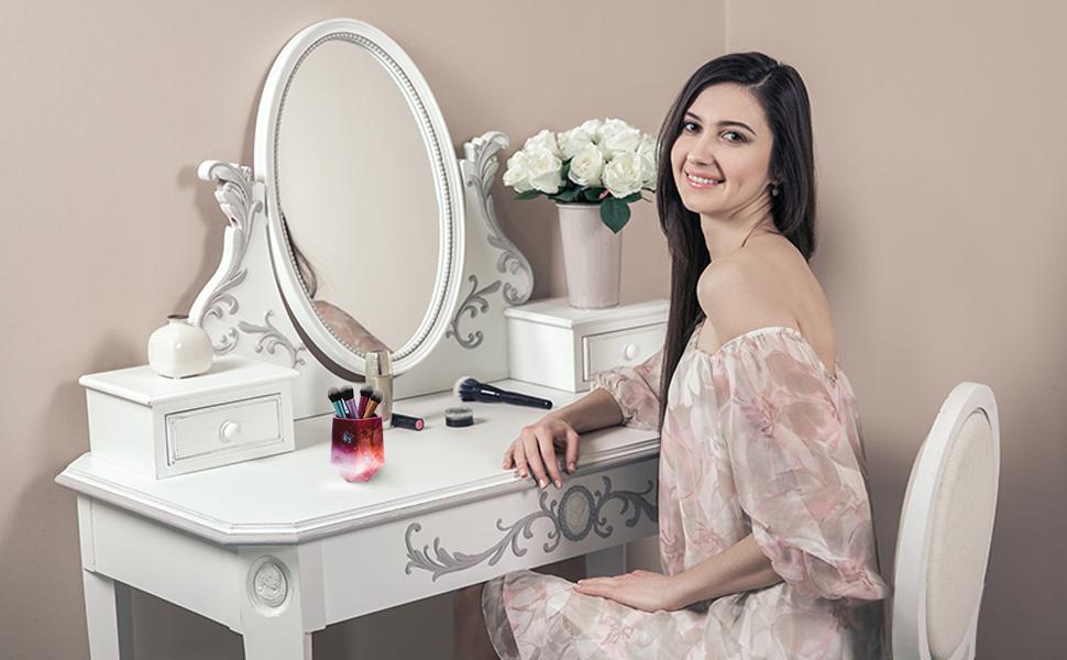Makeup Brush Holder Organizer Epoxy Mold
