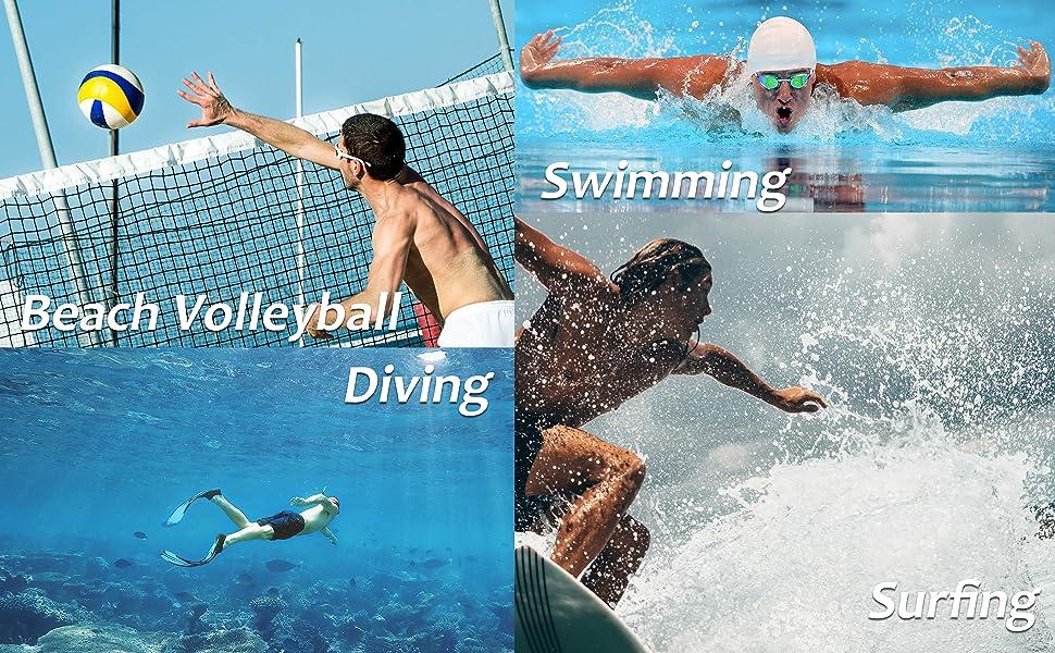 Beach Shorts for Men Quick Dry Swim Shorts Swim Trunks Men