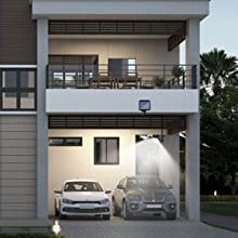 solar garage outdoor lights,outside garage lights, garage wall light with motion sensor