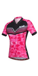 Uriah Women's Cycling Jersey Short Sleeve Reflective with Rear Zippered Bag