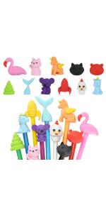 Animal Topper Erasers, 22 Pack, 8 Pack Take Apart Animal Erasers