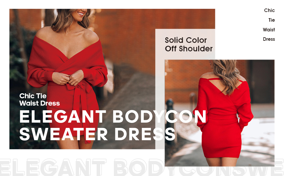 Batwing Sleeve Backless Bodycon Knit Mini Dress